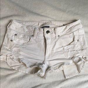 AE white shorts